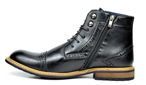 Bruno Marc Men's Black Dress Boots 7.5 M US