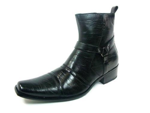 Delli Aldo Men's 681 Western Style Faux Leather Riding Boots