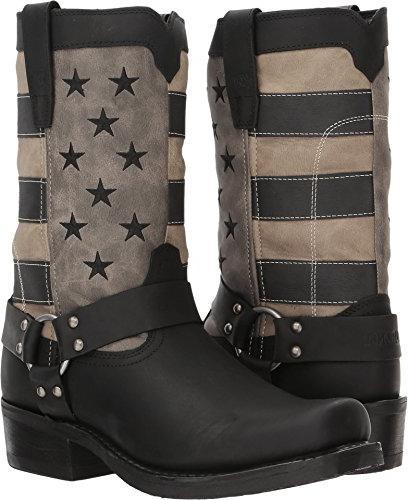 """Durango Men's Flag Harness 11"""" Boot Black/Charcoal/Grey 13 D"""