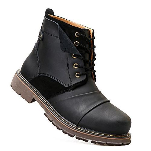 ENLEN&BENNA Men's Work Boots Fashion Casual Motorcycle Boots Boots Combat Boots Toe