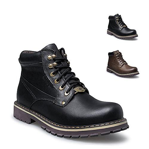 ENLEN and BENNA Work Boots Men and Women Safety Boots Waterp