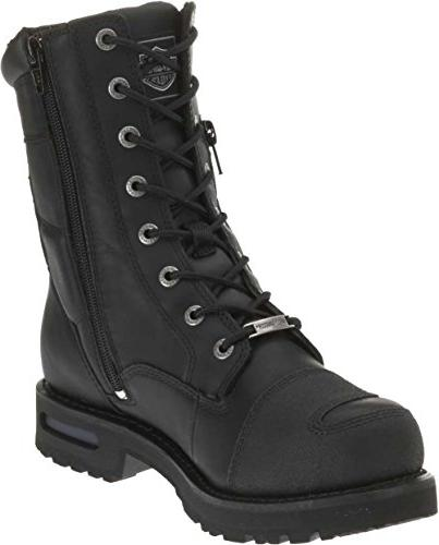Harley-Davidson Men's 8-Inch Lace-UP Black Motorcycle Boots D98308