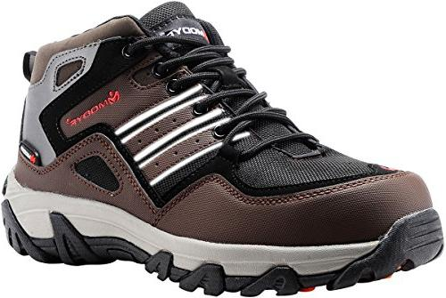 MODYF Men's Steel Toe Work Safety Shoes Outdoor Hiking Boots