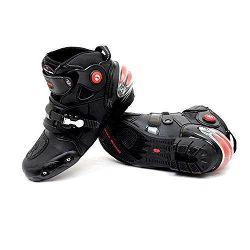 NEW Men's Motorcycle Racing Boots Black US 12
