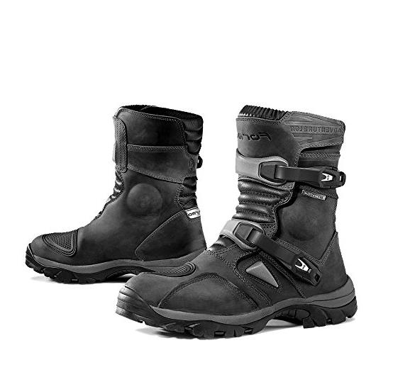 Forma Adventure Low Mens Motorcycle Boots,Black,Size 8