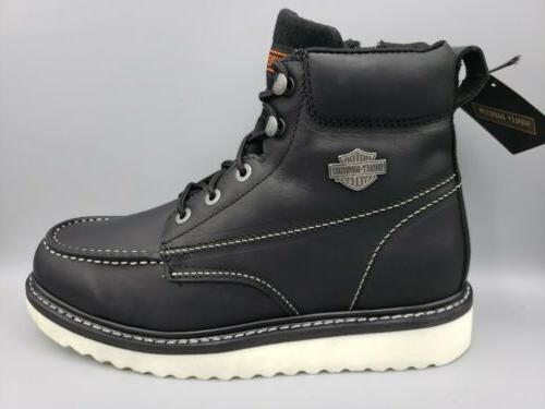 beau leather zip motorcycle boots