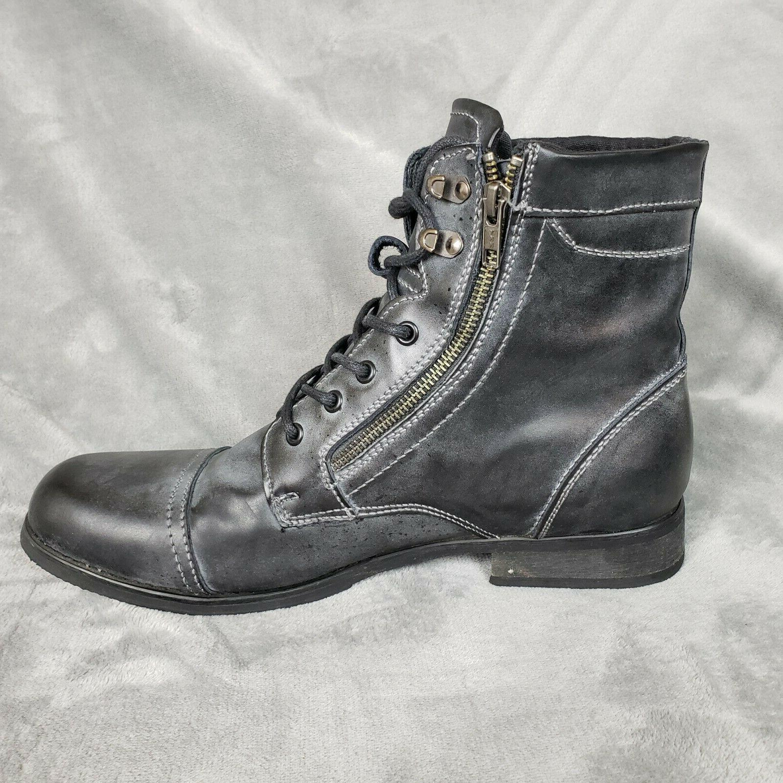 BED Rustic Distressed Leather Boots 11.5