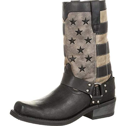 black faded flag harness boot