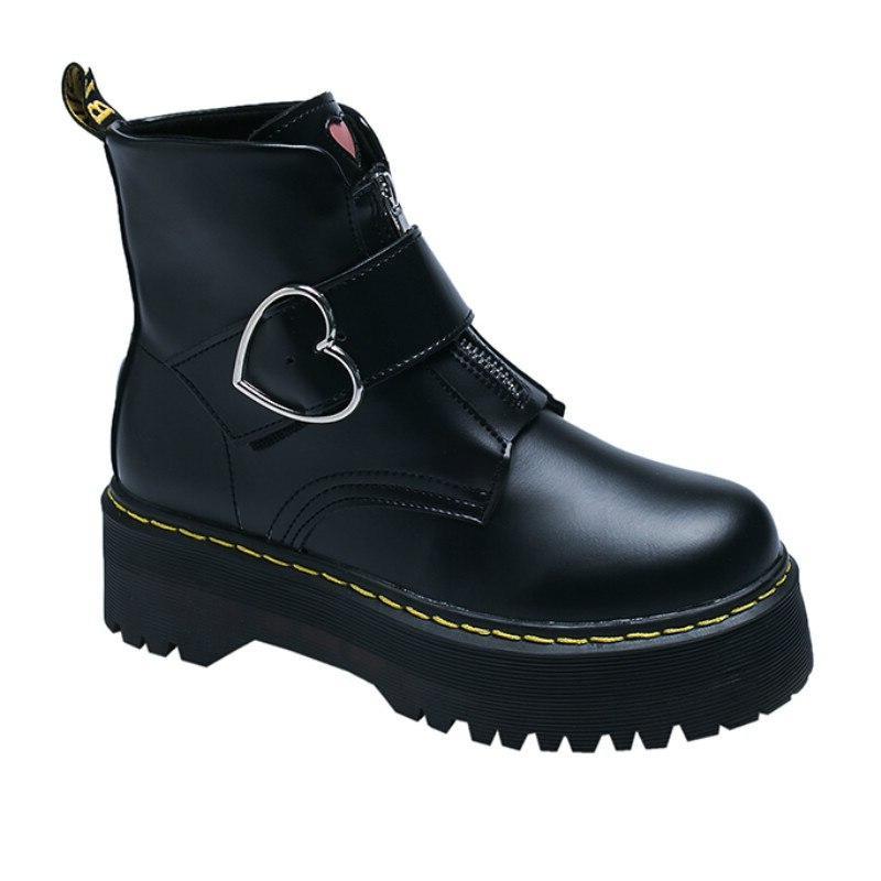 black font b boots b font leather