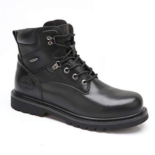black work boots steel composite