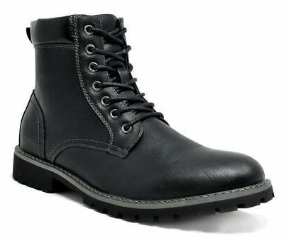 Bruno Combat Faux Fur Winter Boots