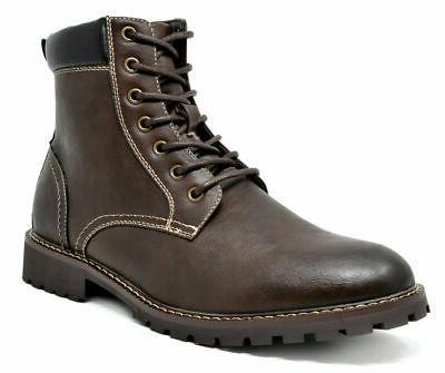 Bruno Marc Combat Zipper Faux Fur Boots