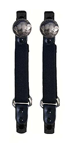 Buffalo Nickel Motorcycle Pant Clip Boot Bungee Riding Strap