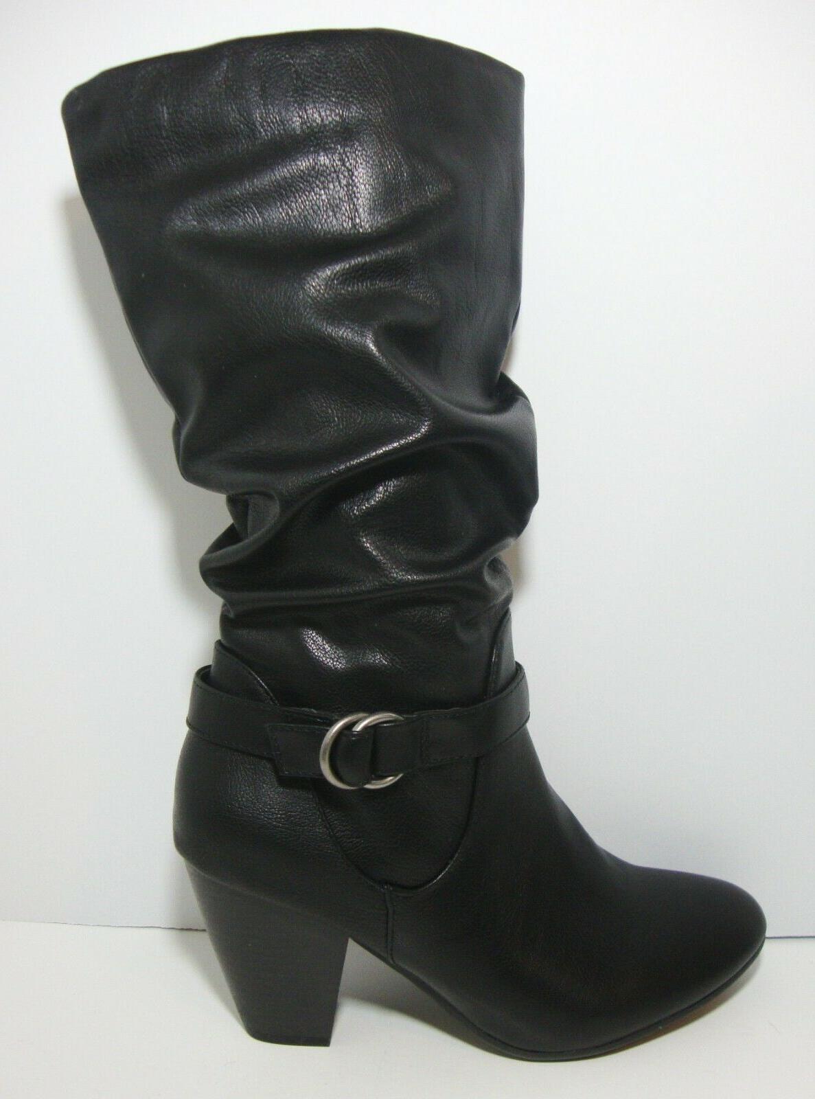 Calf Black Boots Soles 9