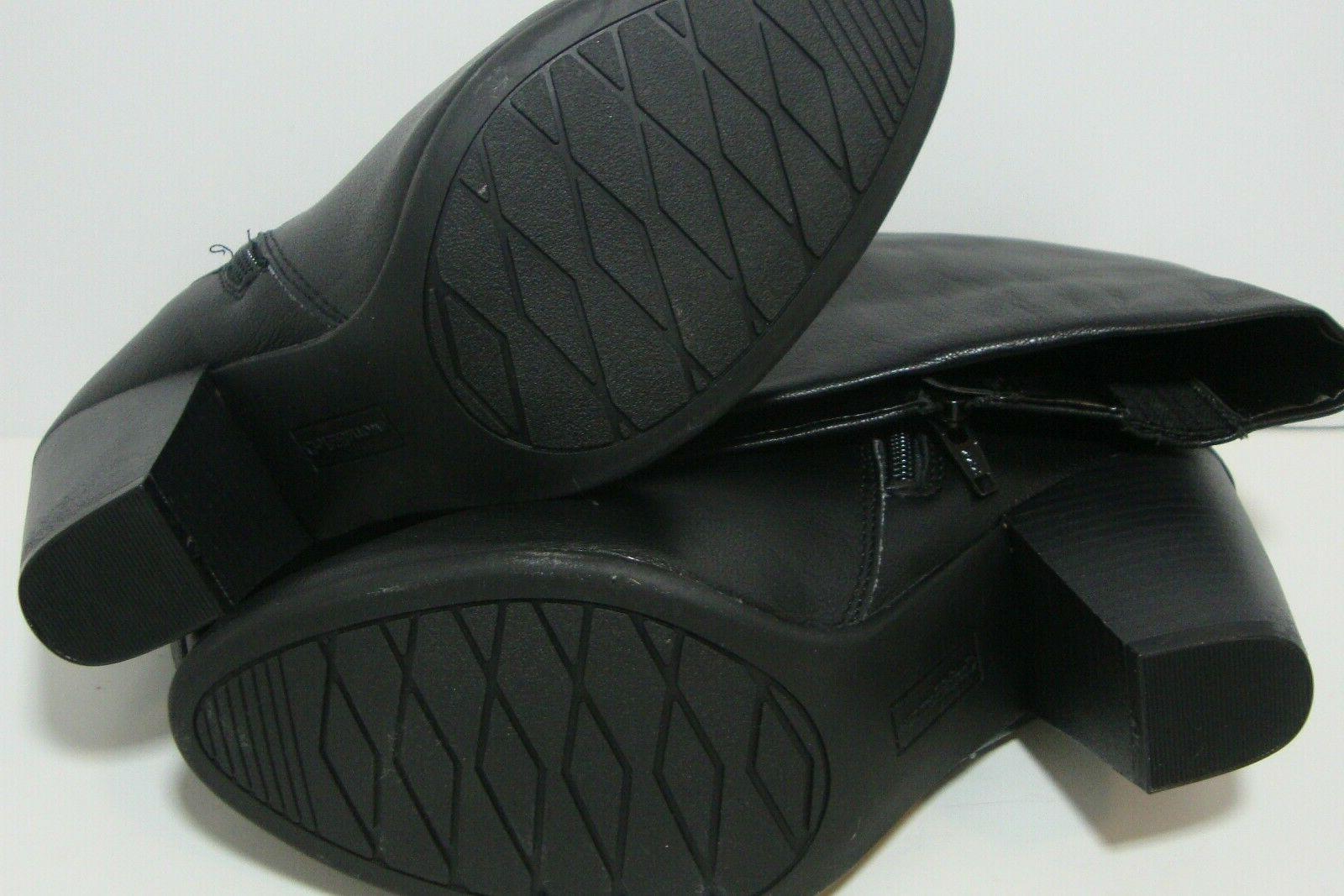 Calf High Black Boots Soles 9