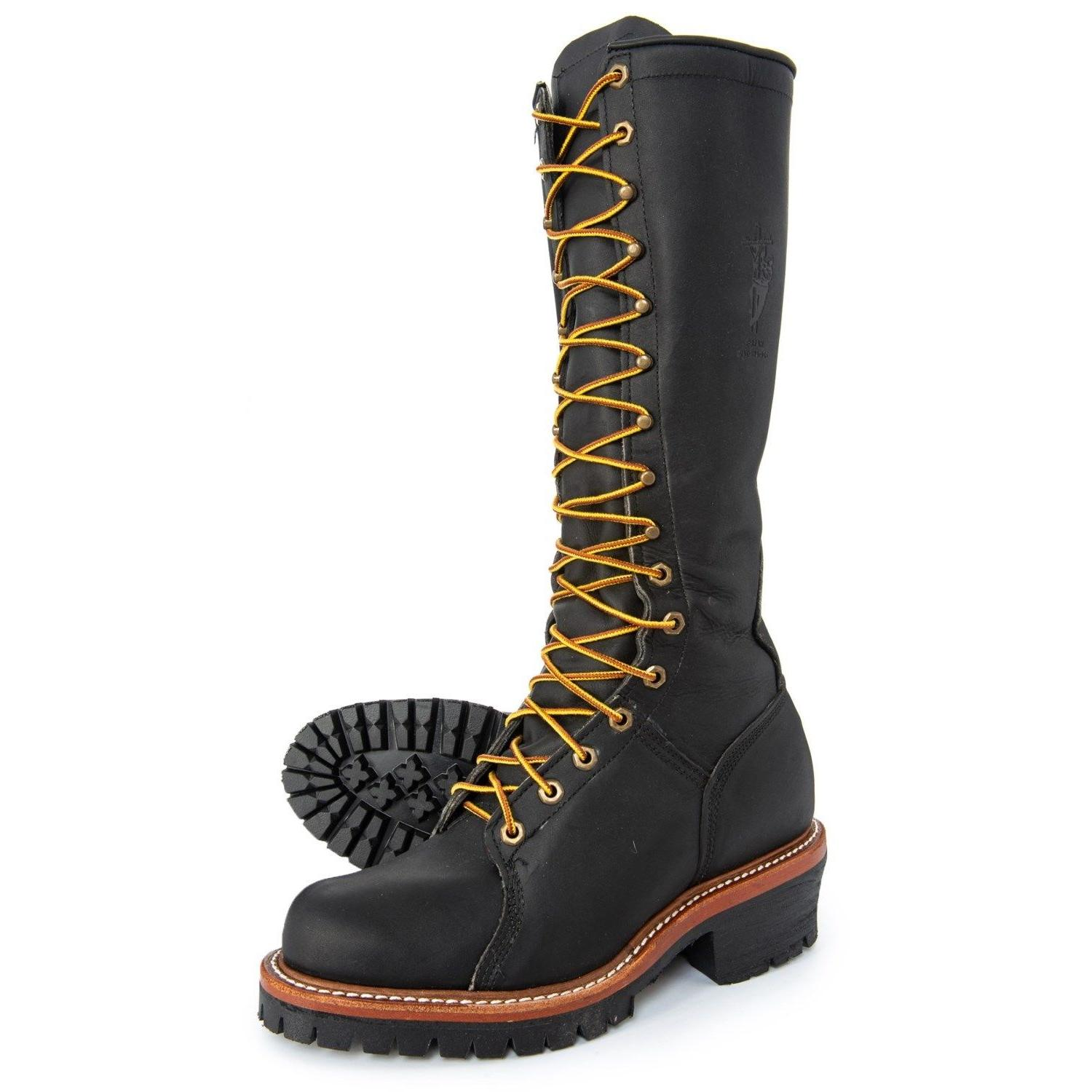 "Chippewa Hall's men's 17"" Lace-up Lineman's Logger Work Moto"