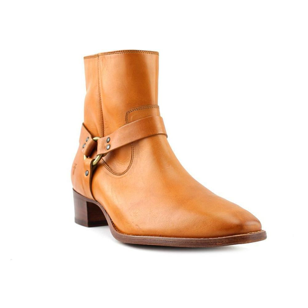 Boots Women Round Leather Tan Shoe 6