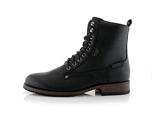 Dual Lace-Up and Zipper Classic Tall Black,