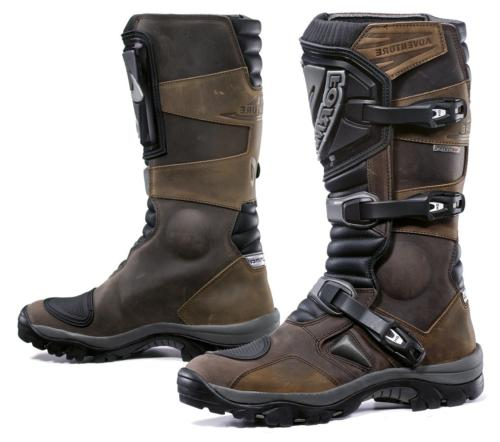 foadvbn45 adventure off road motorcycle boots brown
