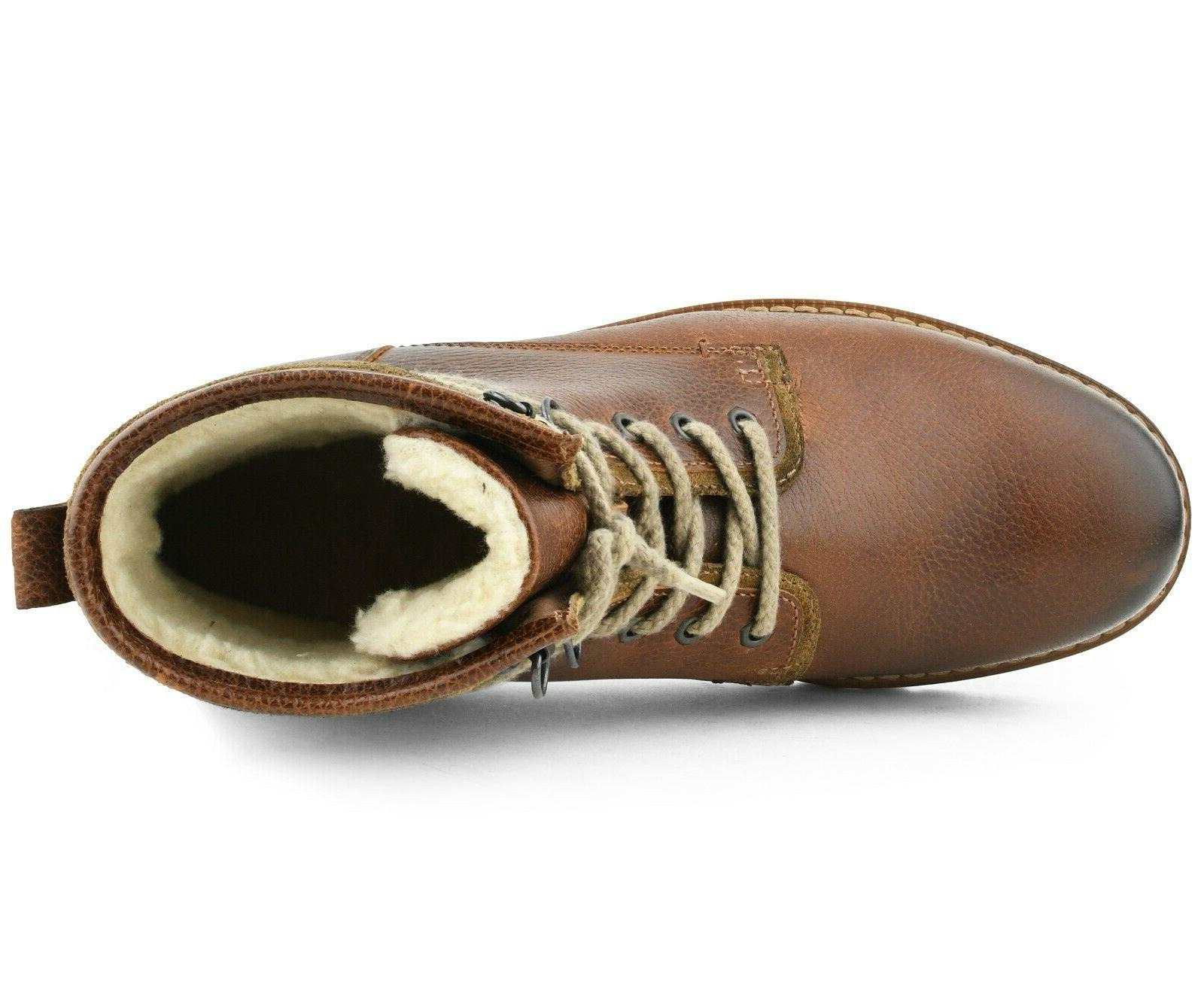 Genuine Leather Lace-Up Boots for Men, Work