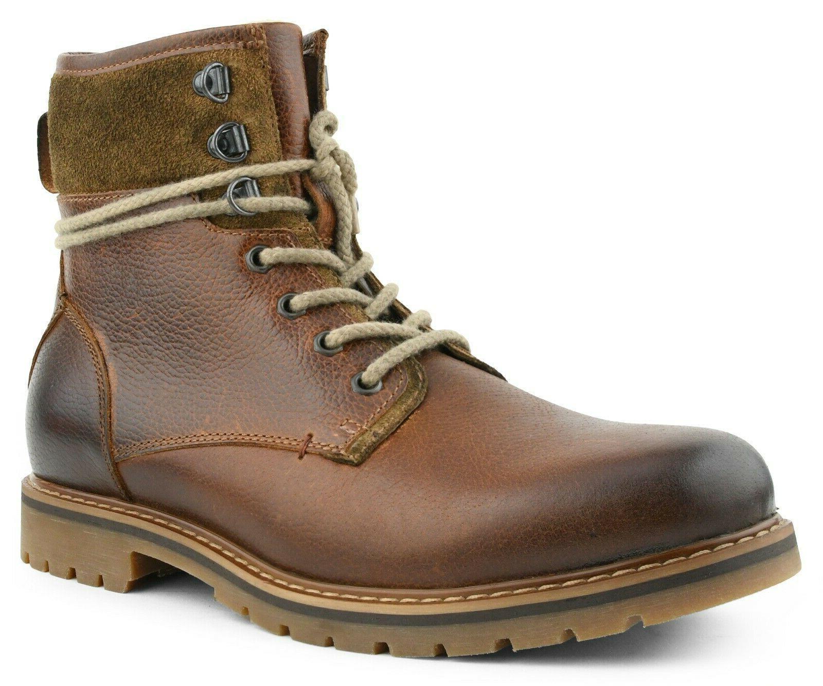 Genuine Lace-Up Boots Men, Work Boots, Combat
