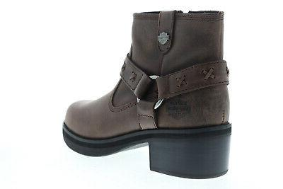 Harley-Davidson Brown Zipper Boots Shoes