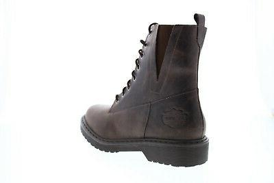 Harley-Davidson D84574 Brown Leather Lace Motorcycle Boots