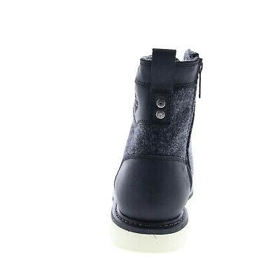 Black Zipper Motorcycle Boots