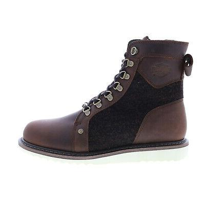 Harley-Davidson Bryant Mens Brown Leather Zipper Motorcycle Boots