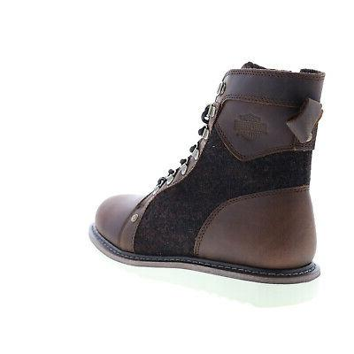 Harley-Davidson D93632 Brown Leather Boots