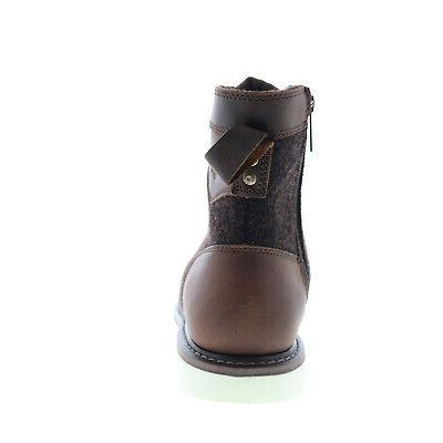 Harley-Davidson D93632 Mens Brown Leather Zipper Boots