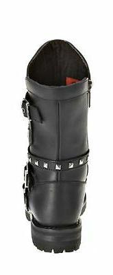 HARLEY-DAVIDSON FOOTWEAR Black Leather D87027