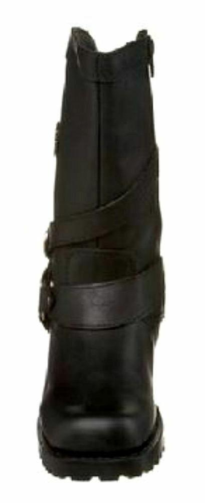 HARLEY-DAVIDSON Women's Black Leather Motorcycle Boots D85514