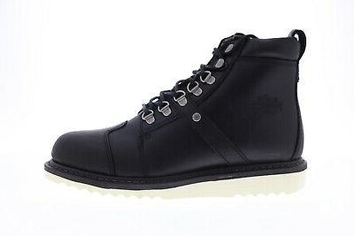 Harley-Davidson Hickman D93586 Black Lace Up Motorcycle Shoes