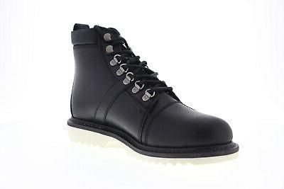 Harley-Davidson Black Leather Lace Motorcycle Boots Shoes