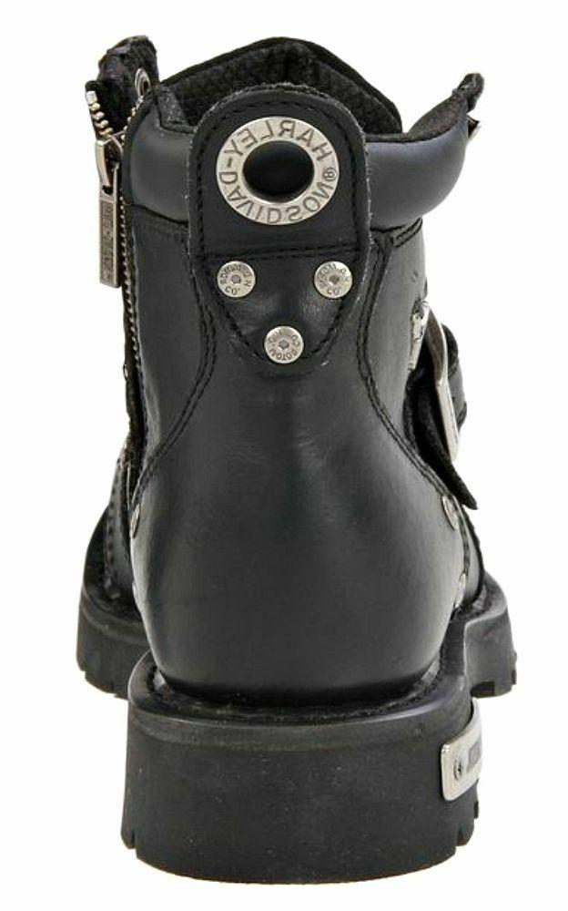 HARLEY-DAVIDSON Mens Buckle Leather Motorcycle Boots D91684