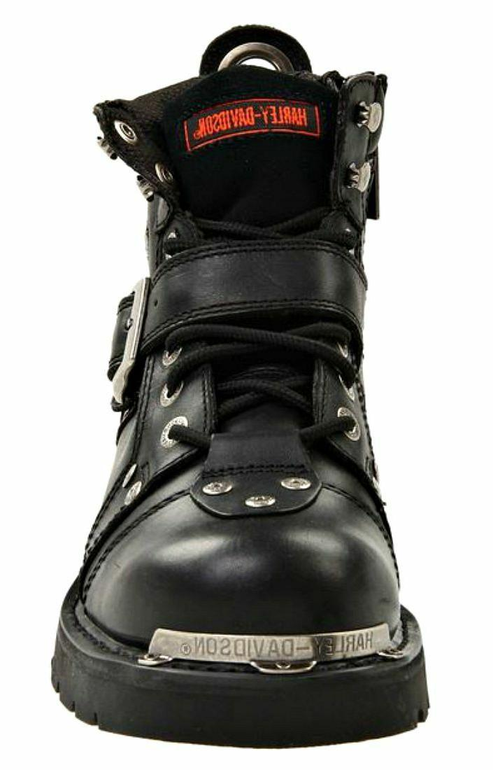 HARLEY-DAVIDSON FOOTWEAR Buckle Leather Boots