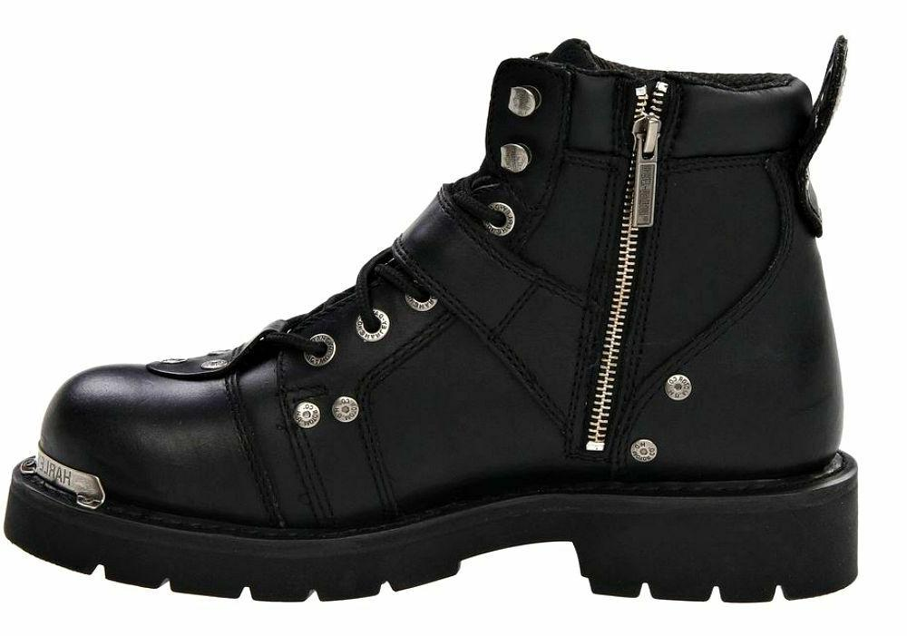 HARLEY-DAVIDSON Buckle Black Leather Boots D91684
