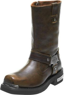 940820948ef Harley-Davidson® Men's Charlesfort Brown Leather Motorcycle Riding Boots  D96150