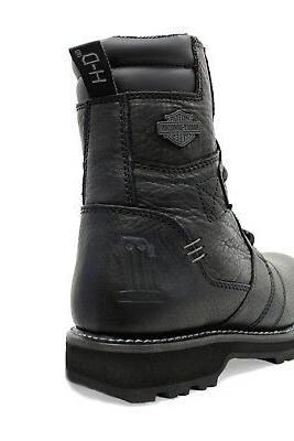 Harley-Davidson 7-inch Lace Up Black Leather Motorcycle Boots