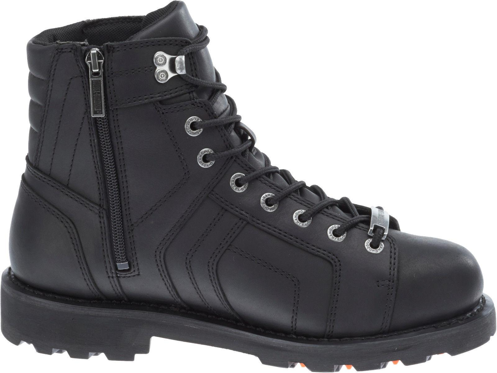 Harley-Davidson® Mens Mandrake Performance Black Leather Boots D96111