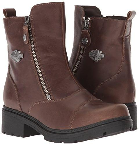 Harley Davidson Women S Amherst Motorcycle Boot Brown 9 Medium
