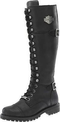 "Harley-Davidson Women's Beechwood 15"" Motorcycle Boots Black"