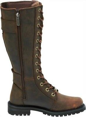 HARLEY-DAVIDSON Women's Brown Leather Boots D87083