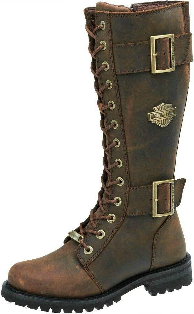 Harley-Davidson® Women's Belhaven Brown Tall Leather Motorc