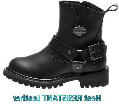 harley davidson women s desmet black leather