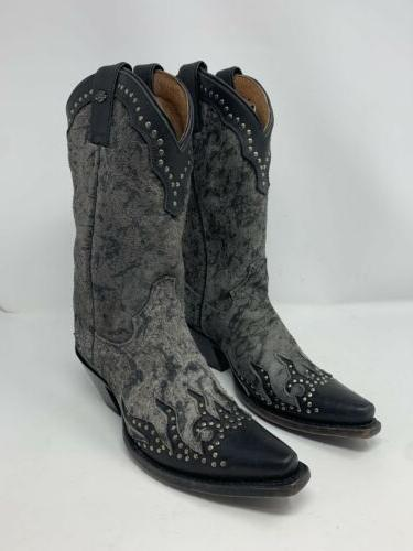 Harley-Davidson Women's Motorcycle Boots Black Gray Womens Size 7M 83652