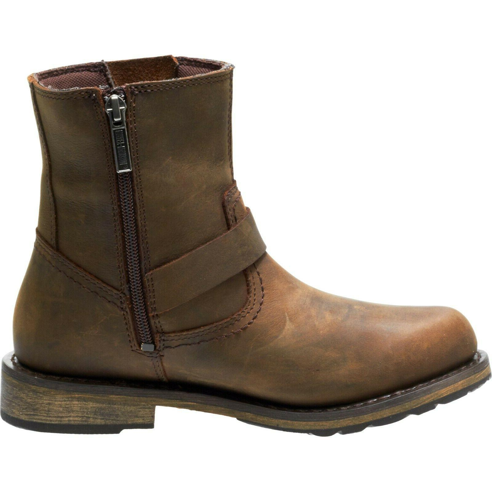 Women/'s Kommer Waterproof Brown Motorcycle Boots