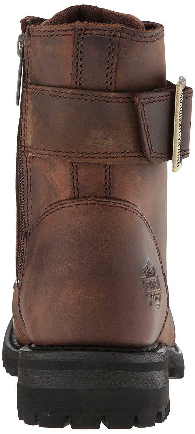 Harley Womens Motorcycle Riding Lace Brown Leather