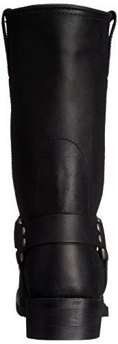 RIDETECS Men's Motorcycle Boot, Oiled Black,